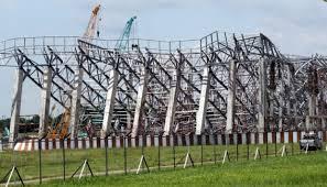 Pembangunan Hanggar Ambruk di Bandara Makassar Dihentikan